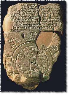 Babylonian tablet map